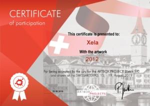 Xela @ ArtBoxProject Zürich | Certificate 2012