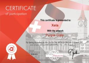 Xela @ ArtBoxProject Zürich | Certificate Purple Gate